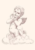Angel or cupid isolated Stock Image