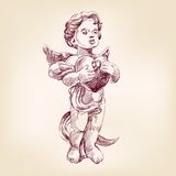 Angel or cupid  llustration Stock Photography