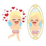 Angel Cupid Mirror Stock Photos
