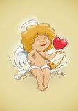Angel cupid for valentines day Stock Image