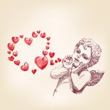 Angel or cupid vector llustration Stock Photo