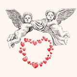 Angel or cupid vector llustration Royalty Free Stock Image