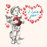 Angel or cupid vector llustration Royalty Free Stock Photo