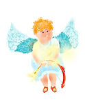 Angel. Cupid. On a white background. cartoon image Royalty Free Stock Photography