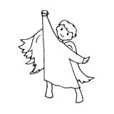 Angel cute little man the gesture of victory Royalty Free Stock Image