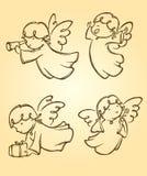 Angel Cute Set Fotos de archivo libres de regalías