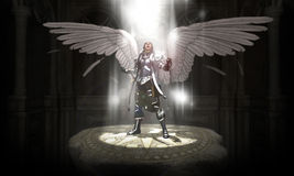 Angel. 3d render of a warrior angel vector illustration