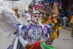 Angel Dancer at Oruro Carnival in Bolivia Stock Photo