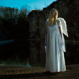 Angel in dark Royalty Free Stock Photography