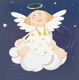 Angel in the dark sky Stock Photo