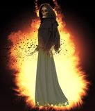 Angel of death on abstract fantasy background 3d illustration royalty free illustration