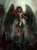 Angel of death Stock Image