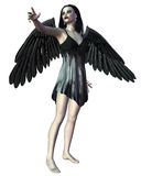 Angel of Death - pointing. Digital render of a dark gothic Angel of Death, hand pointing vector illustration