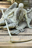 Angel of death sculpture at Monumental Cemetery, Milan Royalty Free Stock Photo