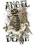 Angel death. Vector illustration ideal for printing on apparel clothes Stock Images