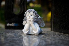 Angel decoration on the grave Stock Images