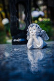 Angel decoration on the grave Royalty Free Stock Photography