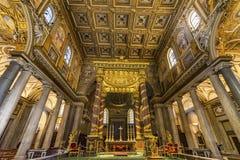 Angel Decorations High Altar Basilica Santa Maria Maggiore Rome Italy photo stock