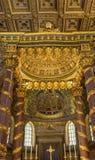 Angel Decorations High Altar Basilica Santa Maria Maggiore Rome Italy image stock