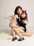 Angel and demon Royalty Free Stock Images