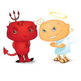 Angel and demon Stock Photos