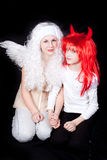 Angel and Demon Royalty Free Stock Image