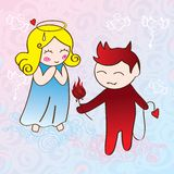 Angel and demon Stock Images
