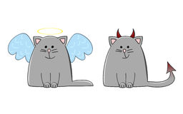 Angel demon cat Stock Photography