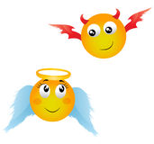Angel, demon Royalty Free Stock Photography