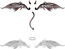Angel and demon wings Stock Photos