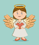 Angel design, vector illustration. Royalty Free Stock Photos
