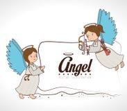 Angel design, vector illustration. Stock Photo