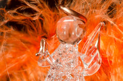 Angel. Detail image of glass angel royalty free stock photography