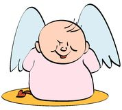 Angel devil. Vector cartoon illustration Stock Photography