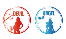 Angel or devil Stock Photography