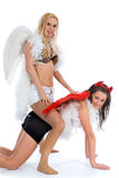 Angel and devil Stock Photo