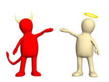 Angel and devil. Kindness and evil Stock Photo