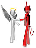Angel and Devil agreement Stock Photo