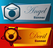 Angel and Devil Banners. stock images