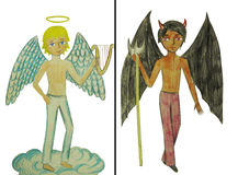 Angel and devil Stock Photos