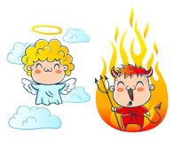 Angel and devil Royalty Free Stock Image