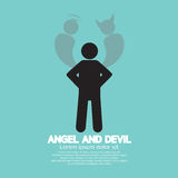Angel And Devil Dark Side And Bright Side Of Human. Illustration Stock Photos