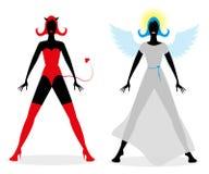 Angel or devil? Stock Image