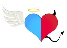 Angel/devil heart Stock Photo