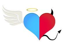 Angel/devil heart Stock Photo