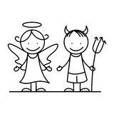 Angel and devil I. Royalty Free Stock Photography