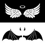 Angel and Devil icons Royalty Free Stock Images