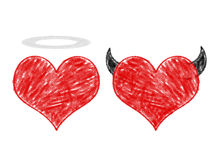 Angel and devil in love Stock Photos