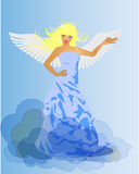 Angel and Devil retro woman Royalty Free Stock Photography