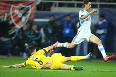 Angel Di Maria. During the football match between Romania and Argentina, 5th March 2014, National Stadium, Bucharest, Romania. Final score: 0-0 Royalty Free Stock Photography